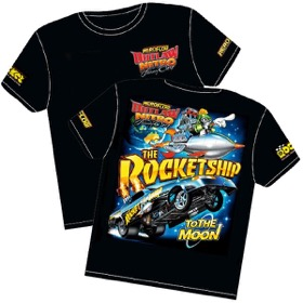 <strong>'The Rocket Ship' Wheelstander T-Shirt</strong><br />Youth-Large