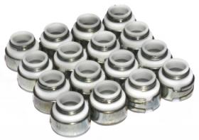 COMP CAMS Valve Stem Seals, Viton, Positive Stop, 11/32 in. Valve Stem, .530 in. Guide Diameter, Set of 16