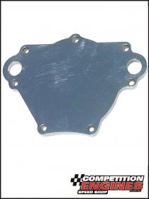 Meziere WP115U, Water Pump Back Plate, Chrysler SB  (Up to 1990), Polished Finish