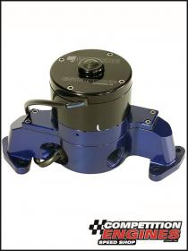 Meziere WP173BHD, Electric Water Pump Ford 1994-95 5.0L, Standard Motor 42 GPM, Blue Anodized Finish