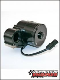Mezire WP361, 300 Series Radiator Mounted Electric Water Pump Single Outlet, 55 GPM, Black Anodized Finish