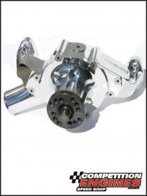 Meziere WP401UP, 400 Series Mechanical Water Pump, Chev Small Block Short-style, Standard Rotation, Polished Finish