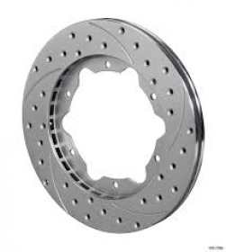 Wilwood Front Brake Rotor Drilled&Slotted ZINC 11inch L/H