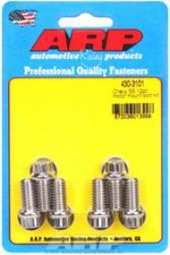 ARP  Engine Mount Bolts, 12 Point Polished Stainless Steel Mount To Block,  Chev  SB & BB