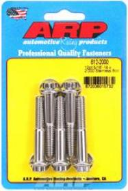 ARP 12 Point 3/8 Wrench Head 5/16-18 2.000 length Stainless Steel Polished Pack of 5