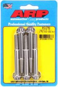 ARP 12 Point 3/8 Wrench Head 5/16-18 2.250 length Stainless Steel Polished Pack of 5