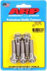 ARP 12 Point 3/8 Wrench Head 3/8-16 1.500 length Stainless Steel Polished Pack of 5