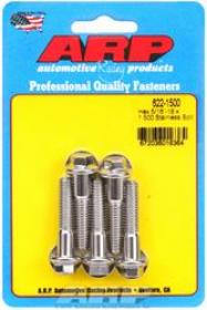 ARP  HEX 3/8 Wrench Head 5/16-18 1.500 length Stainless Steel Polished Pack of 5