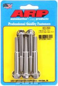ARP  12 Point 3/8 Wrench Head 5/16-18 3.500 length Stainless Steel Polished Pack of 5