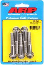 ARP  HEX 3/8 Wrench Head 3/8-16 2.000 length Stainless Steel Polished Pack of 5