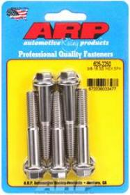 ARP  HEX 7/16 Wrench Head 3/8-16 2.250 length Stainless Steel Polished Pack of 5
