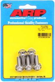 ARP  12 Point 3/8 Wrench Head 5/16-24 .750 length Stainless Steel Polished Pack of 5