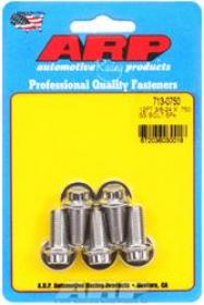 ARP  12 Point 3/8 Wrench Head 3/8-24 .750 length Stainless Steel Polished Pack of 5