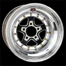 WELD ALUMA STAR BLACK  15 X 8''  3'' BS (5 X 4.5 Ford Stud Pattern)