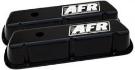 AFR Alloy Valve Covers SBF Std Height Black Powder Coat