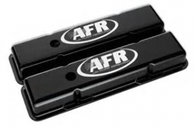 AFR Alloy Valve Covers SBC Std Height Black Powder Coat