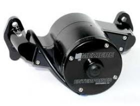 Meziere WP100SHD, Chev BB, 100 Series Electric Water Pump, 42 GPM, Heavy Duty Motor, Black Anodized Finish