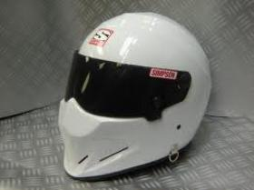 SIMPSON HELMET Diamond Back White  Size- 7 5/8 XL WHITE