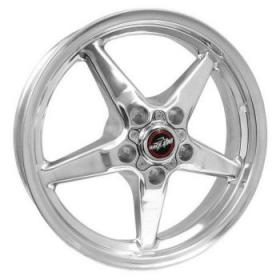 Race Star Drag Star Polished 17 x 4.5  1.750B/S 5x4.5 Pattern(Ford)
