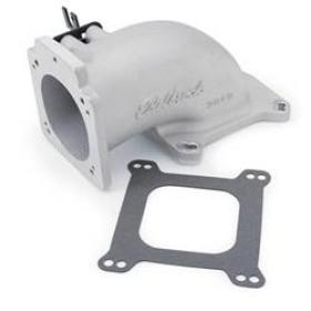 Edelbrock Throttle Body Elbow Low Profile Aluminum 90mm Throttle Body To Square Bore Flange