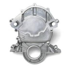 Edelbrock Timing Cover 1-Piece Alloy Natural Reverse Rotation Water Pump Suit 5.0L-351W