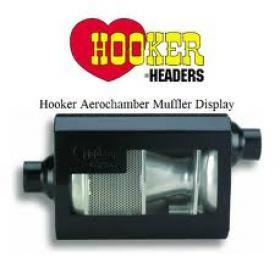 HOOKER AERO CHAMBER MUFFLERS 3'' Inlet Centre 2 1/2''Dual Outlet
