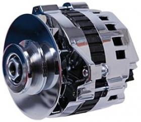MSD DynaForce 160amp Alternator In Chrome 1 Wire Installation Internal Reg Fits Many GM Brackets