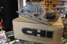 CHI CLEVELAND DUAL PLAIN AIR GAP MANIFOLD.Suit 185-208-225 CHI Heads.Huge Amount Of Torque Down Low Will Fit Under Bonnet.