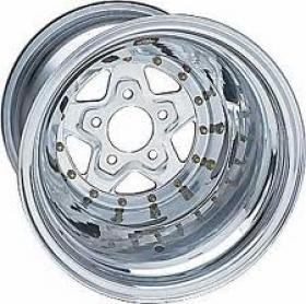 WELD POLISHED ALUMA STAR 15 x 8''  3'' BS (5 x 4.75 Bolt Pattern)