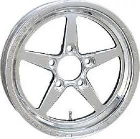 WELD ALUMA STAR POLISHED 15 X 3.5'' 2.25'' BS (5 X 4.5 Ford Stud Pattern)