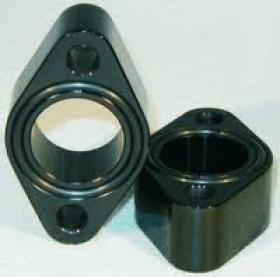 Meziere SBC Water Pump Spacers Black