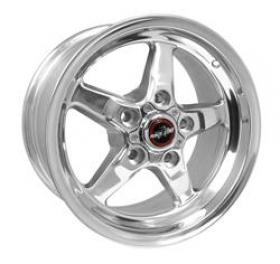 Race Star Drag Star Polished 15x8  5.25'B/S  5x4.5 Pattern (Ford)