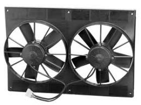 SPAL DUAL 11'' Large Motor Thermo Fans With Shroud