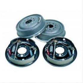 Strange Ford 9'' Drum Brake Kit 11'' Dia Fits Late Big Ford Housing Ends 5x4.5'' 1/2'' Stud Holes