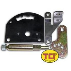 TCI Shifter Levers, Automatic Transmission Shift Lever And Pan Bracket, Steel, Natural, Ford, Lincoln, Mercury, C-4/C-6, Each